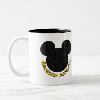 Becher Autistischer Stolz Mickey Puzzle I Zweifarbige Tasse