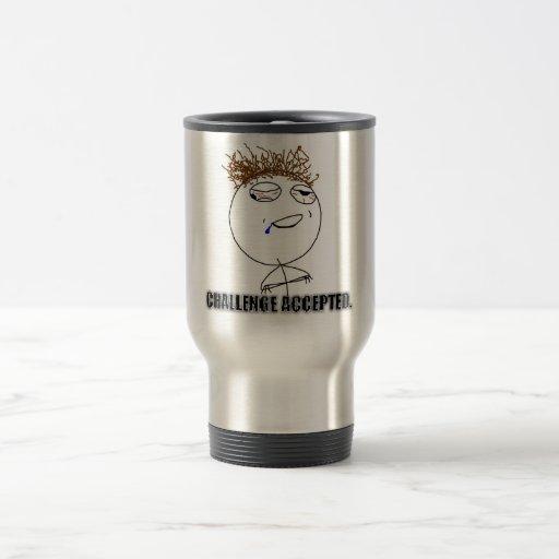 Becher Challenge Accepted Kaffeetassen
