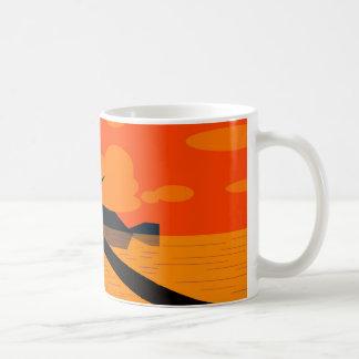 Becher Strand der Sonne für Kaffeetasse