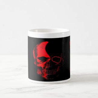 Becher Totenkopf Color Red Kaffeetasse