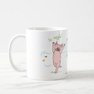 Becher vegan, Schwein, Kuh und Schaf: Be veggie! Kaffeetasse