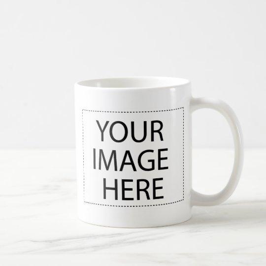 Becher Zwei-Bild Schablone Kaffeetasse