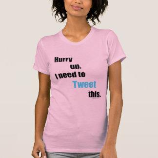 Bedarf, zu tweeten dieses hemd