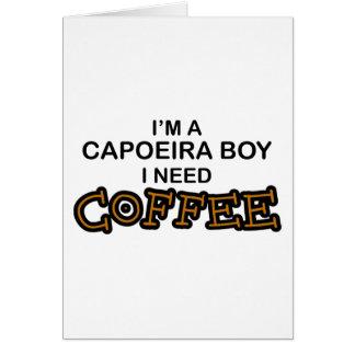 Bedarfs-Kaffee - Capoeira Junge Karte