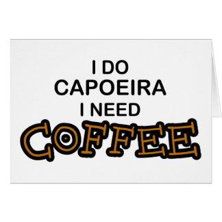 Bedarfs-Kaffee - Capoeira Karte