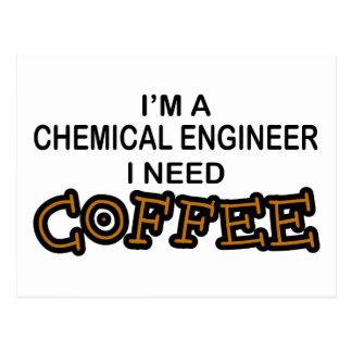 Bedarfs-Kaffee - Chemieingenieur Postkarte