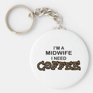 Bedarfs-Kaffee - Hebamme Standard Runder Schlüsselanhänger