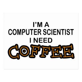 Bedarfs-Kaffee - Informatiker Postkarte