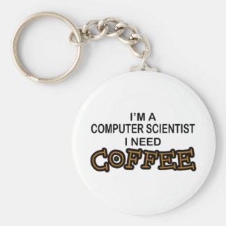 Bedarfs-Kaffee - Informatiker Standard Runder Schlüsselanhänger