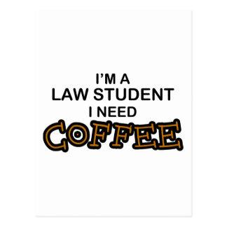 Bedarfs-Kaffee - Jurastudent Postkarte