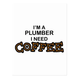 Bedarfs-Kaffee - Klempner Postkarte