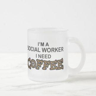 Bedarfs-Kaffee - Sozialarbeiter Matte Glastasse