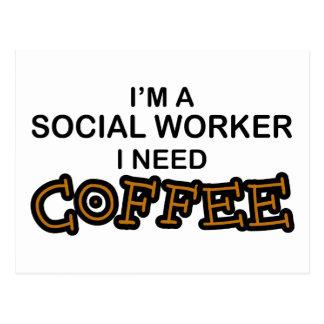 Bedarfs-Kaffee - Sozialarbeiter Postkarte