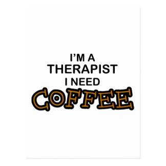 Bedarfs-Kaffee - Therapeut Postkarte