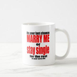 bedauernder Antrag des Mitleids heiraten Kaffeetasse