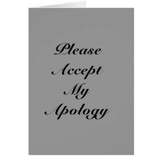 Bedauerngrußkarte Mitteilungskarte