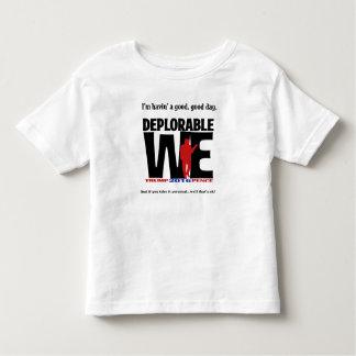 Bedauernswert tragen wir während des kleinkind t-shirt