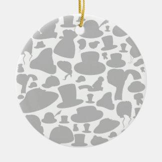 Bedecken Sie einen Hintergrund mit einer Kappe Keramik Ornament