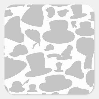 Bedecken Sie einen Hintergrund mit einer Kappe Quadratischer Aufkleber