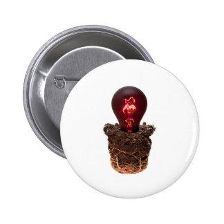 Bedecken Sie und brennende Glühlampe auf Ihrem coo Runder Button 5,7 Cm