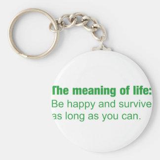 Bedeutung des Lebens - seien Sie glücklich und Schlüsselanhänger