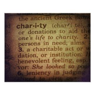 Bedeutung finden - Wohltätigkeit Fotodruck