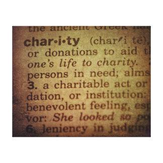 Bedeutung finden - Wohltätigkeit Leinwanddruck