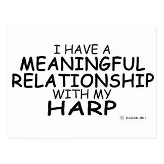 Bedeutungsvolle Verhältnis-Harfe Postkarte