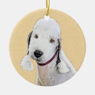 Bedlington Terrier 2 Malerei - ursprüngliche Keramik Ornament