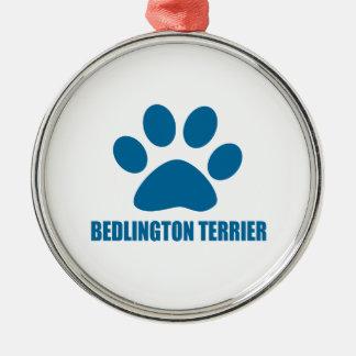 BEDLINGTON TERRIER HUNDEentwürfe Silbernes Ornament