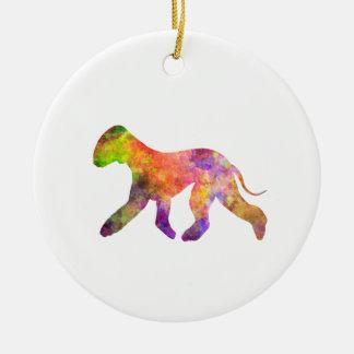 Bedlington Terrier in Watercolor 2 Keramik Ornament