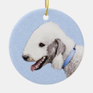 Bedlington Terrier Malen - ursprüngliche Keramik Ornament