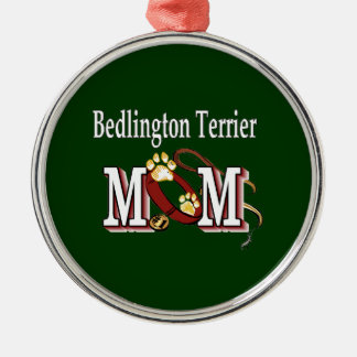 Bedlington Terrier Mamma Silbernes Ornament