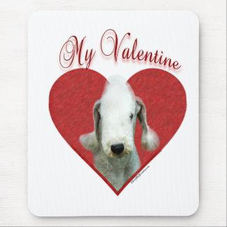 Bedlington Terrier mein Valentinsgruß Mousepad