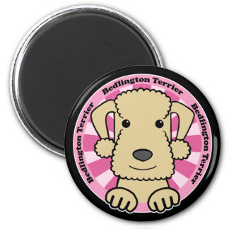 Bedlington Terrier Runder Magnet 5,7 Cm