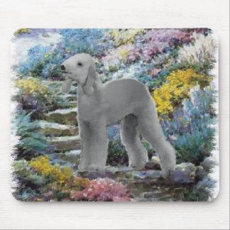 Bedlington Terrier Sommer-Garten-Kunst Mousepads