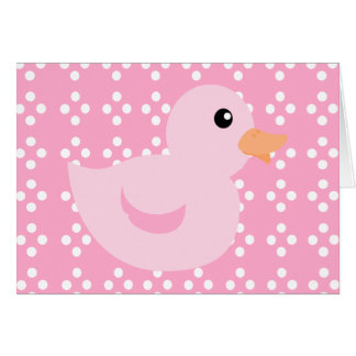 Bedotted Ente im Rosa Karte