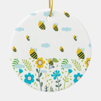 Bee Flying Keramik Ornament