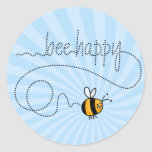 bee happy trail stickers