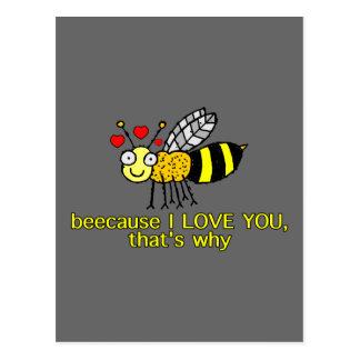 Beecause I Liebe Sie Postkarte