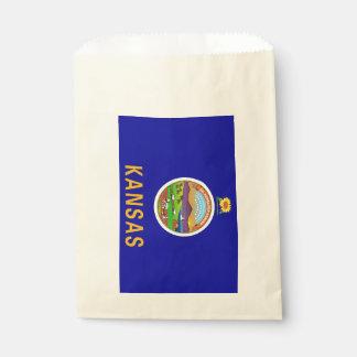 Beehren Sie Tasche mit Flagge von Kansas-Staat, Geschenktütchen