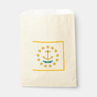 Beehren Sie Tasche mit Flagge von Rhode Island Geschenktütchen