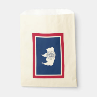 Beehren Sie Tasche mit Flagge von Wyoming-Staat, Geschenktütchen