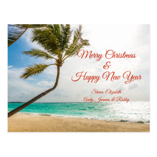 Beeinflussende Palme-frohe Weihnacht-Postkarte Postkarte