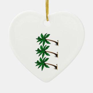 Beeinflussende Palmen Keramik Herz-Ornament