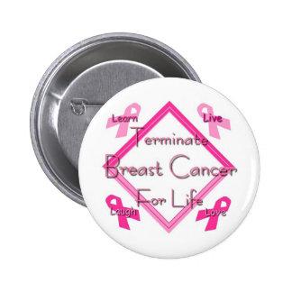 Beenden Sie Brustkrebs Button