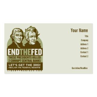 Beenden Sie die gefütterten Aktionsplakate Visitenkartenvorlagen
