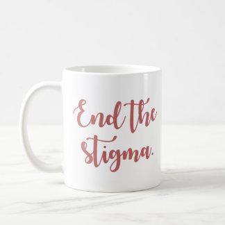 Beenden Sie die Schande-Kalligraphie Kaffeetasse
