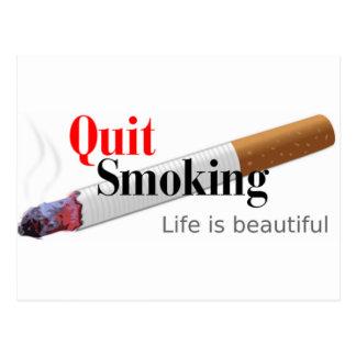 Beendigtes Rauchen Postkarte