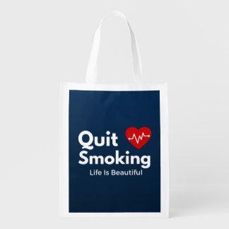 Beendigtes Rauchen Wiederverwendbare Einkaufstasche